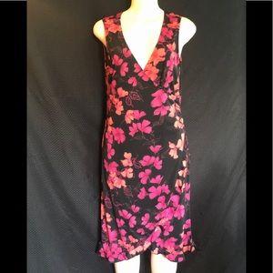 Vintage La Belle Floral Dress Made in USA wrap L